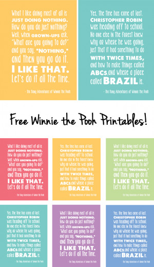 Winnie the Pooh Free Printables from Modern Parents Messy Kids
