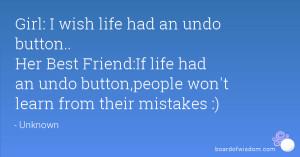 Wish I Had a Best Friend