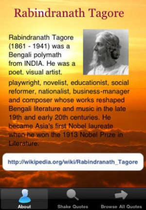 View bigger - Rabindranath Tagore Quotes for iPhone screenshot