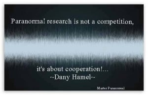 Paranormal Quotes: It's About Cooperation!