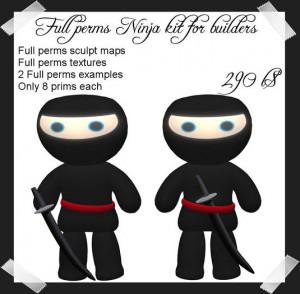 Cute Ninja Pictures Full perms cute ninja kit for