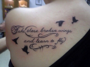 My favorite tattoo of mine. I used to listen to this song everytime I ...