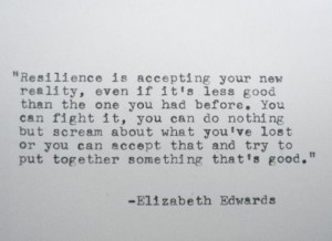 ... EDWARDS Inspirational Quote Made on Typewriter Resilience Quote