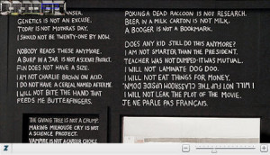 firm Work Club apparently has every Bart Simpson blackboard quote ...