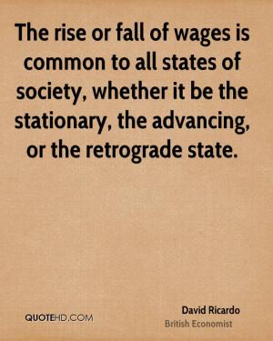 David Ricardo Society Quotes