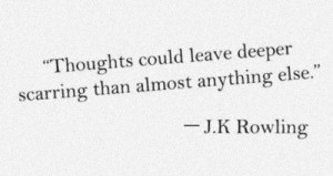 black and white, hurt, j.k rowling, quote, quotes, text, thoughts