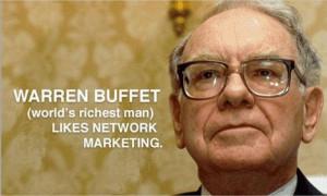 Warren Buffet & Network Marketing!