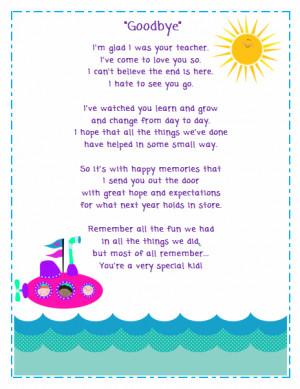 Goodbye Poem for Students