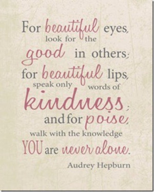 Audrey Hepburn beautiful quote
