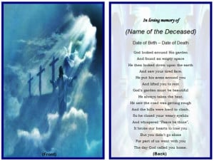 memorial cards or memoriam cards are multipurpose cards but they are ...