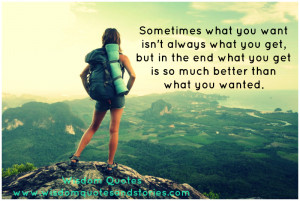 What you Want isn't always What you get