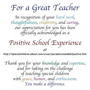 appreciation quotes teacher appreciation special acknowledgments for ...