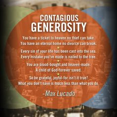 quote from max lucado more generosity quotes christian quotes ...