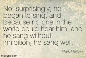 Quotes of Mark Helprin About dream, dreams, music, love ...