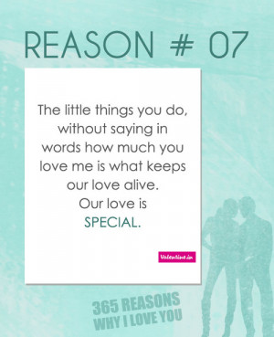 valentineindia:Reasons why I love you #7 : The little things you do ...