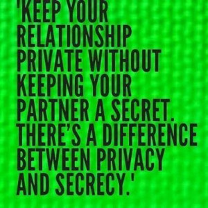 privacy and secrecy...