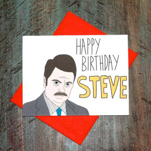 Parks And Rec Ron Swanson Wrong Name Birthday Quote by TurtlesSoup, $3 ...