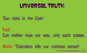 Title: Education kills our common sense [Funny Picture]