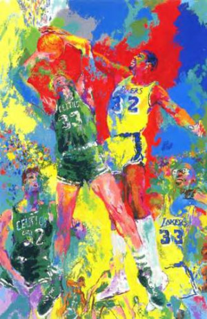 leroy neiman nieman magic basketball larry byrd bird johnson sports