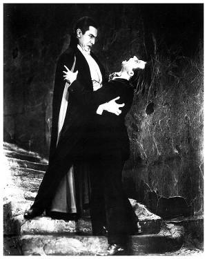 Bela Lugosi as Dracula and Dwight Frye as Renfield (1931).