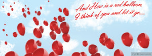 Facebook Cover Red Balloons Cute Love Cool Timeline 4