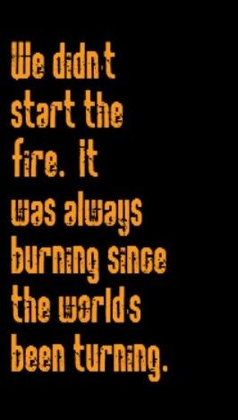 billy joel we didn t start the fire song lyrics songs music lyrics ...