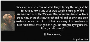 Nyerere Quotes