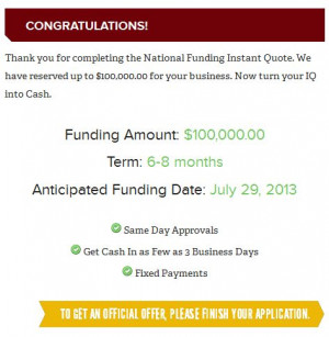 National Funding Announces Instant Quote Business Loan Calculator Tool