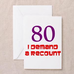 80th Birthday Card Saying