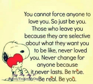You can't force anyone to love you