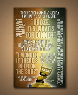 MST3K Crow T. Robot Quotes Poster