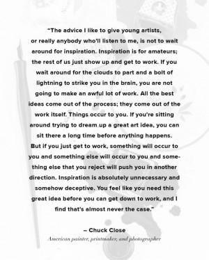 Chuck Close Quote