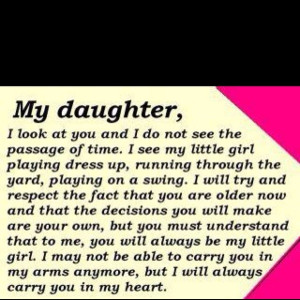 My Daughter I Took At You And I Do Not See The Passage Of Time
