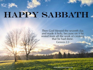 Happy sabbath :))))