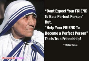 Nice Mother Teresa Quotes in English | Friendship Quote by Mother ...