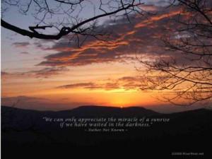 Wallpaper Quotes~~~~~ 116 - Appalachian Mountain Sunrise