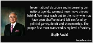 More Najib Razak Quotes