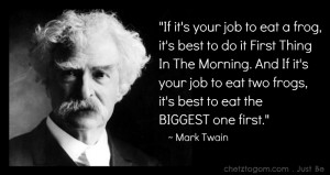 have learned from standing on the shoulders of giants like Mark Twain ...