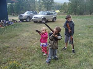 Redneck Girls With Guns Her fake gun at a bird.