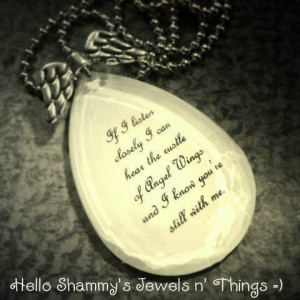ANGEL WINGS Quote Necklace.