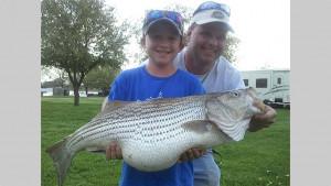 Matt Cartwright Lake Tawakoni Striped Bass kids
