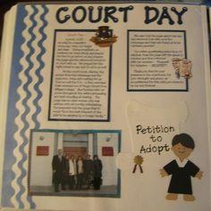 ... scrapbook the day scrapbook idea court adoption scrapbook scrapbook