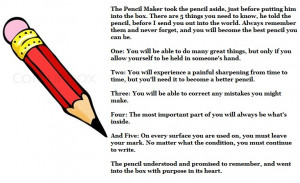 motivational quote on pencil and our life the pencil maker