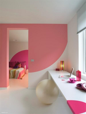 the pink color in wall paint