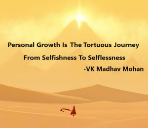 From Selfishness to Selflessness