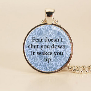 DIVERGENT Veronica Roth Fear Quote Charm Necklace