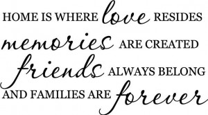 Home is where Love Memories Friend vinyl wall decal quote sticker ...