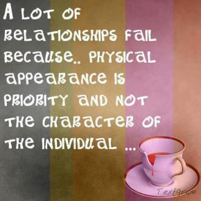 ... Is Priority And Not The Character Of The Individual - Appearance Quote