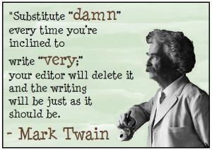 MarK Twain advice.