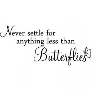 ... less than butterflies cute nursery kids girls wall quotes sayings art